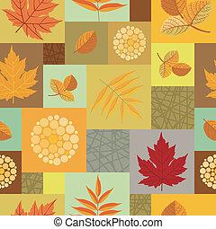 folhas, padrão, seamless, bagas