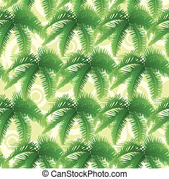folhas, palma, seamless, padrão