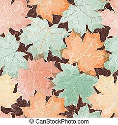folhas, papel parede, seamless, maple