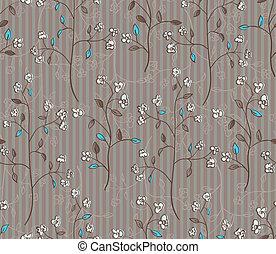 folhas, papel parede, seamless