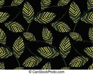 folhas, papel parede, verde, seamless