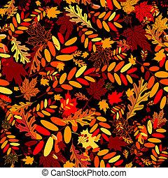 folhas, seamless, outono, desenho, fundo, seu