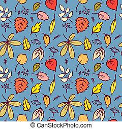 folhas, textura, padrão