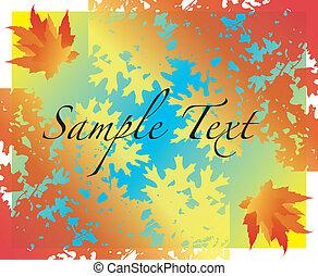 folhas, vetorial, ilustração, outono