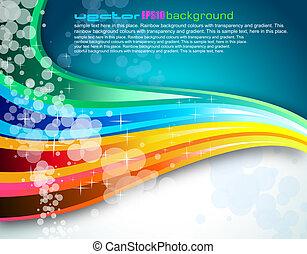 folheto, arco íris, espectro, fundo