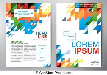folheto, desenho, a4, template.