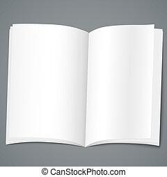 folheto, desenho, vazio, modelo