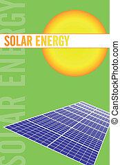 folheto, energia, solar