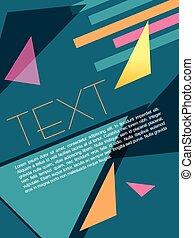 folheto, projeto abstrato