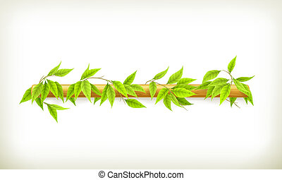 Foliage banner, vector