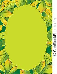Foliage frame.