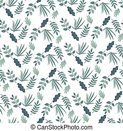 Foliage of bushes or flowers, spring seamless pattern - ...