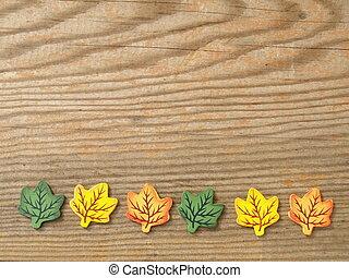 foliage on a board