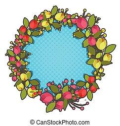 Foliage Wreath Vector Design