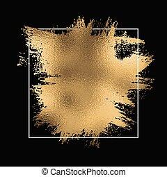 folie, goud, black , frame, achtergrond, splatter, 1710, witte
