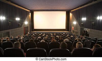 folk, åskådande film