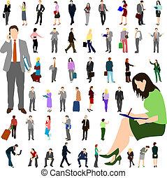 folk, -, affär, -, stort, sätta, 01