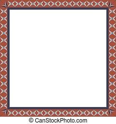 Folk art traditional frame