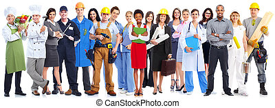 folk branche, arbejdere, group.
