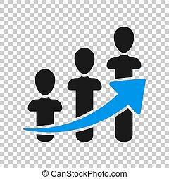 folk branche, karriere, concept., isoleret, illustration, style., baggrund., vektor, pil, optræden, transparent, ikon