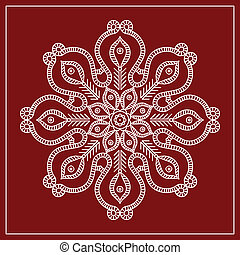 Folk Circular, Tribal Design, Motif, Wall Painting Vector...