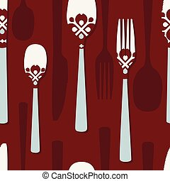 Folk cutlery background