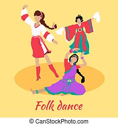 Folk Dance Concept Flat Design