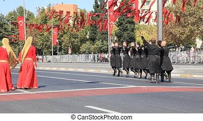 folk dance (editorial) - Caucasian folk dance (6 Octaber...