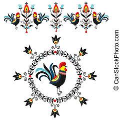 Folk Decorations Of Roosters - Folk decorations -polish...
