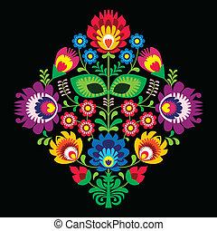 Folk embriofory with flowers