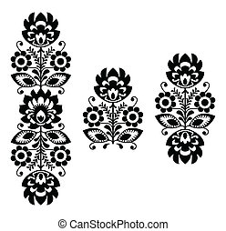 Folk embroidery - floral pattern