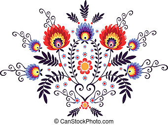 folk embroidery - polish folk design inspiration