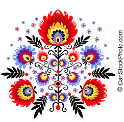 folk embroidery - polish folk inspiration