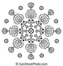 folk embroidery - polish pattern folk - inspiration