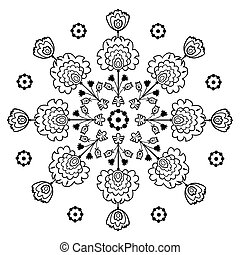 folk embroidery - polish pattern folk - inspiration