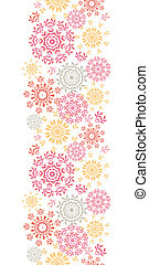 Folk floral circles abstract vertical seamless pattern...
