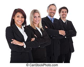 folk, grupp, affär