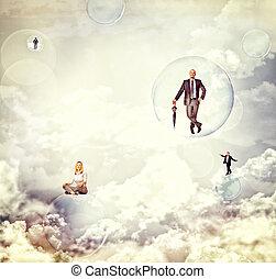 folk in de, sky