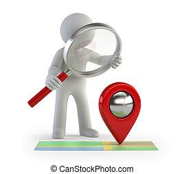folk, -, kigge, lokaliseringen, lille, 3