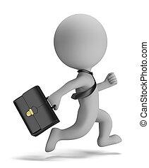 folk, -, løb, lille, forretningsmand, 3