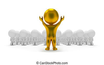 folk, -, liten, tillbedjan, idol, 3