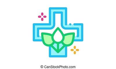 folk medicine Icon Animation. color folk medicine animated icon on white background