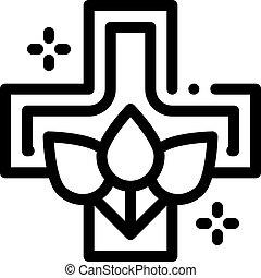 folk medicine icon vector. folk medicine sign. isolated contour symbol illustration