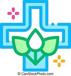 folk medicine icon vector. folk medicine sign. color symbol illustration