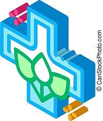folk medicine icon vector. isometric folk medicine sign. color isolated symbol illustration