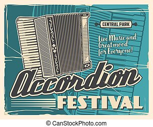 folk-music, instrumenten, leven, accordeon, muziekfestival