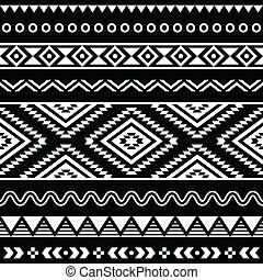folk-music, vector, ornament, seamless, aztec