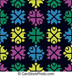 Folk pattern background