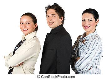 folk, profil, grupp, affär