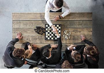 folk, schack, affär, leka